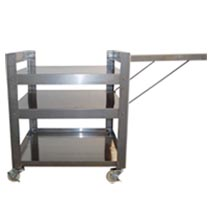 1414 - Stainless Steel Smoker Cart for Models 1100 and 1400